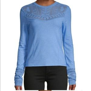 Free people Colette top open knit sz s NEW!
